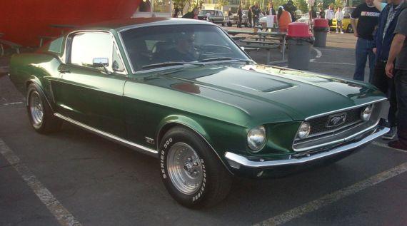 Ford Mustang Coupe-der-zweiten Generation-Baujahr-1968