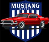 Das Logo für den Footer auf der Seite für die Geschichte des Mustangs.
