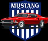 Das Logo von Mustang mieten für den Footer unter Kontakt.