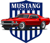 Das Logo der Oldtimervermietung für Mustangs als Selbstfahrer für die Preisliste.